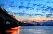 Free Second Severn Crossing At Dusk Stock Photo - 20614070