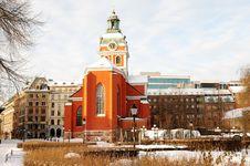 Winter Stockholm. Stock Photo