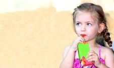 Free Little Girl Drinking Stock Photography - 20614482