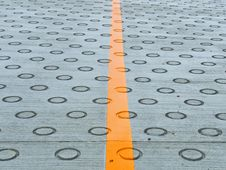 Free Circle On The Road For Friction Stock Image - 20614621