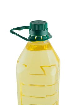 Free Oil In Plastic Bottle Isolated. Royalty Free Stock Photos - 20614638