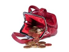 Free Coins In Woman S Purse. Stock Images - 20614684