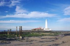 Free St Mary S Lighthouse With Wood Pillars Stock Image - 20614691