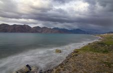 Pangong Lake In Evening Stock Photography