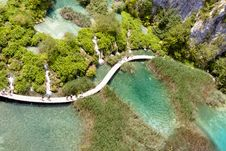Free Aerial View - Plitvicka Lake - Croatia Stock Image - 20615141