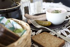 Free Table Laid For Breakfast. Royalty Free Stock Image - 20615296