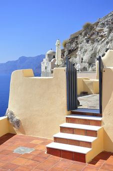 The Architecture Of Santorini Royalty Free Stock Image
