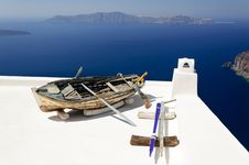Free Old Boat On The Roof Stock Photography - 20615752
