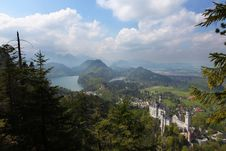 Castle Of Neuschwanstein Royalty Free Stock Image
