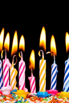 Free Many Coloured Candles Royalty Free Stock Photography - 20616907