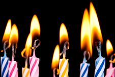 Free Many Coloured Candles Royalty Free Stock Photography - 20616927