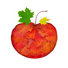 Free Apple Made From Leaves Stock Image - 20617721