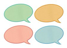 Free Paper Speech Bubbles Royalty Free Stock Image - 20618046