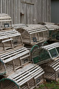 Free Lobster Traps 3 Royalty Free Stock Photos - 20619278
