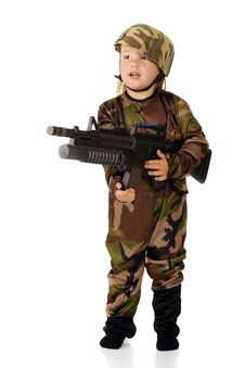 Free Soldier At The Ready Royalty Free Stock Photography - 20619397