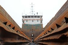 Free Maintenance Of Barges Royalty Free Stock Images - 20619459
