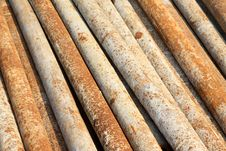Rusty Steel Tube Stock Photo
