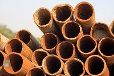Rusty Steel Tube Stock Image