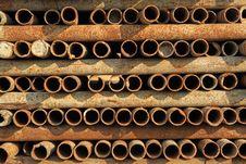 Rusty Steel Tube Royalty Free Stock Image