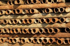 Rusty Steel Tube Royalty Free Stock Images
