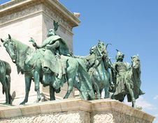 Free Statue On Heroes Square Stock Image - 20619801