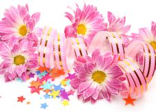 Free Streamer And Flowers Royalty Free Stock Photo - 20619805
