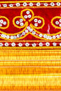 Free Red Cloth, Embroidered And Gold Wooden Frame Royalty Free Stock Photos - 20622508