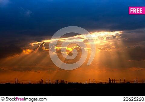 Free Sunset Light Stock Photo - 20625260