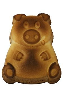 Cake In Form Of A Pig. Stock Image