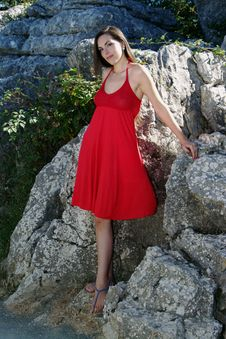 Free Standing In Red.- Variation 1 Stock Photo - 20620350
