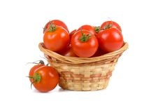 Free Ripe Tomatoes In A Wicker Basket Stock Photo - 20620630