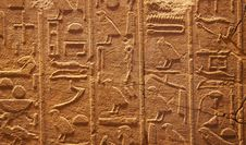Free Hieroglyphs On The Wall Royalty Free Stock Images - 20620789