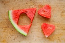 Free Watermelon Hearts Royalty Free Stock Photos - 20621778