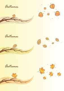 Free Autumn Branches, Vector Illustration Stock Photography - 20621912
