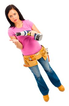 Free Construction Girl Royalty Free Stock Images - 20622249