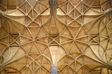 Free Geometrical Ceiling In A Cathedral Stock Photo - 20622610