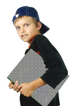 The Boy With The Book, Royalty Free Stock Photos