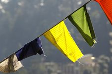 Free Colorful Tibetan Flags Stock Photos - 20622773