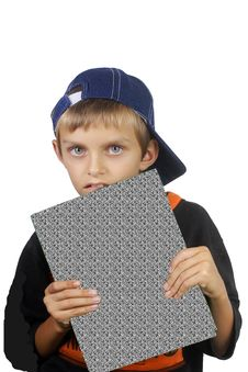 The Boy With The Book. Royalty Free Stock Photography