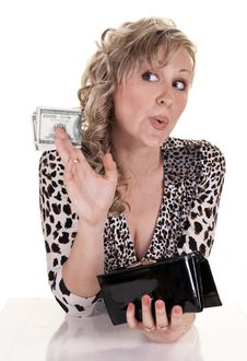 Free Woman With Cash Royalty Free Stock Photo - 20623175