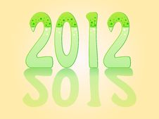 Free 2012 Glass Effect Royalty Free Stock Photography - 20623247