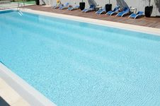 Swimming Pool, Build, Water Reflections Royalty Free Stock Photos