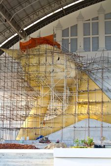 A Large Reclining Buddha. Royalty Free Stock Images