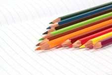 Free Pencil Crayons On White Writing Paper Royalty Free Stock Photos - 20623698