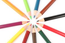 Free Colorful Pencils In A Circle Stock Image - 20623701