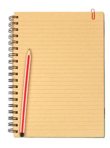 Free Brown Notebook With Pencil Royalty Free Stock Photography - 20623707