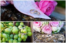 Wedding Rings Collage Royalty Free Stock Photo