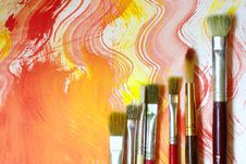 Free Paint And Brushes Royalty Free Stock Photo - 20624375