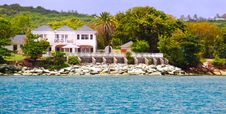 Free Luxury Waterfront Estate On Antigua Royalty Free Stock Images - 20624549