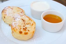Quark Cheese Pancakes Stock Photography